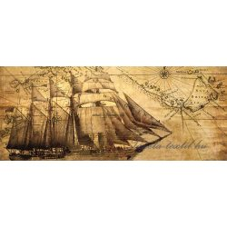 Hajó vlies poszter, fotótapéta 022VEP /250x104 cm/