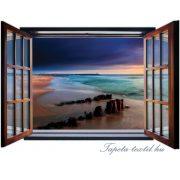 Ablakból a kilátás vlies poszter, fotótapéta 1055VEZ4 /201x145 cm/
