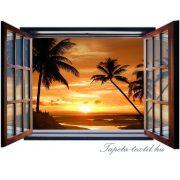 Ablakból a kilátás vlies poszter, fotótapéta 1056VEZ4 /201x145 cm/