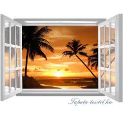 Kilátás az ablakból vlies poszter, fotótapéta 1061VEZ4 /201x145 cm/