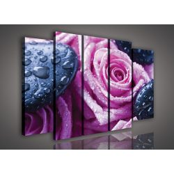 Rózsa, 5 darabos vászonkép, 150x100 cm méretben