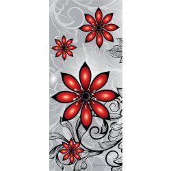 Virág minta vlies poszter, fotótapéta 1211VET /91x211 cm/