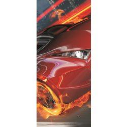 Lángoló autó öntapadós poszter, fotótapéta 132SKT /91x211 cm/