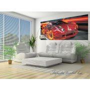 Lángoló autó vlies poszter, fotótapéta 132VEP /250x104 cm/