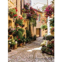 Virágos utca poszter, fotótapéta 1339P4-A /184x254/