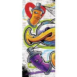 Graffiti öntapadós poszter, fotótapéta 1399SKT /91x211 cm/