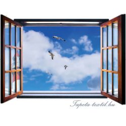 Kilátás az ablakból vlies poszter, fotótapéta 1949VEZ4 /201x145 cm/