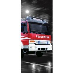 Tűzoltó autó öntapadós poszter, fotótapéta 2022SKT /91x211 cm/