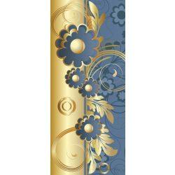 Kék virág minta vlies poszter, fotótapéta 2028VET /91x211 cm/