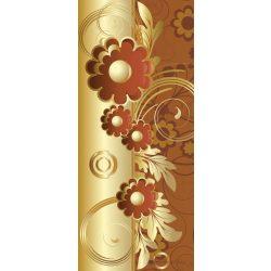 Barna virág minta vlies poszter, fotótapéta 2029VET /91x211 cm/