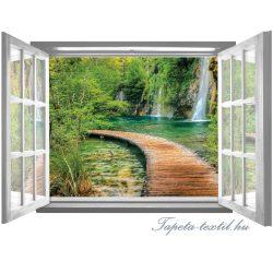 Ablakból a kilátás vlies poszter, fotótapéta 2067VEZ4 /201x145 cm/