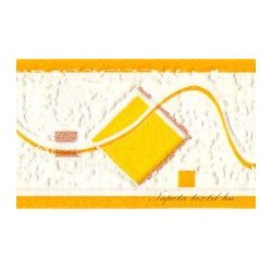 Citrom-narancs hullám -négyzet mintás bordűr