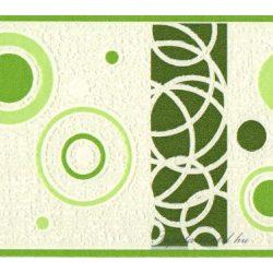 Zöld kör mintás bordűr