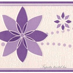 Lila virág mintás bordűr