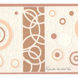 Beige-barna kör mintás bordűr