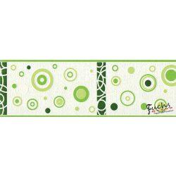 V.zöld alapú kör mintás bordűr