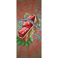 Kockák öntapadós poszter, fotótapéta 2324SKT /91x211 cm/