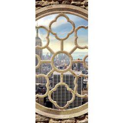 New York ablakból öntapadós poszter, fotótapéta 2395SKT /91x211 cm/