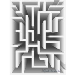 3D labirintus  vlies poszter, fotótapéta 2455VE-A /206x275 cm/