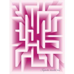 3D labirintus  vlies poszter, fotótapéta 2456VE-A /206x275 cm/