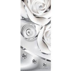 Absztrakt virág minta vlies poszter, fotótapéta 2613VET /91x211 cm/