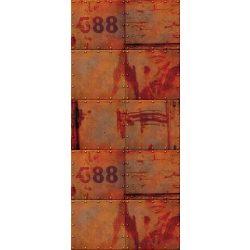 Szegecselt lemezek öntapadós poszter, fotótapéta 2695SKT /91x211 cm/