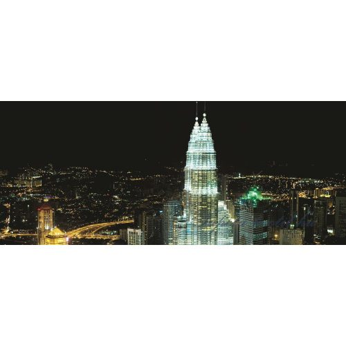 Felhőkarcolók az éjszakában poszter, fotótapéta 276VEP /250x104 cm/