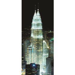 Felhőkarcoló az éjszakában vlies poszter, fotótapéta 276VET /91x211 cm/