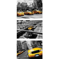 Sárga taxi öntapadós poszter, fotótapéta 2767SKT /91x211 cm/