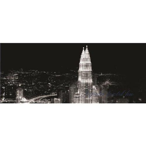 Felhőkarcolók az éjszakában poszter, fotótapéta 286VEP /250x104 cm/