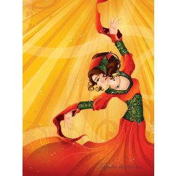 Táncos vlies poszter, fotótapéta 336VE-A /206x275 cm/