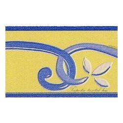 Sárga-kék inda mintás bordűr