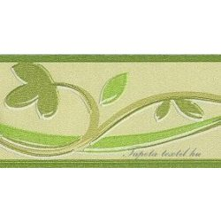 Zöld inda mintás bordűr