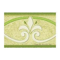 Zöld bourbon liliom mintás bordűr