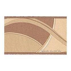 Drapp-barna modern mintás bordűr