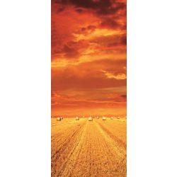 Szalmabálák vlies poszter, fotótapéta 414VET /91x211 cm/