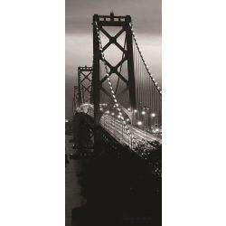 Oakland Bay Bridge éjszaka öntapadós poszter, fotótapéta 419SKT /91x211 cm/