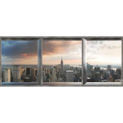 New York ablakból vlies poszter, fotótapéta 447VEEXXXL /832x254 cm/