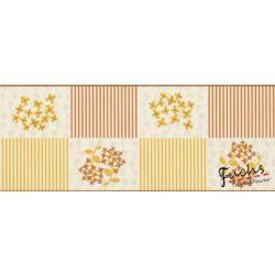 Okker sárga-sárga mintás bordűr