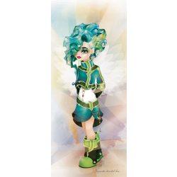 Kék lány vlies poszter, fotótapéta 609VET /91x211 cm/