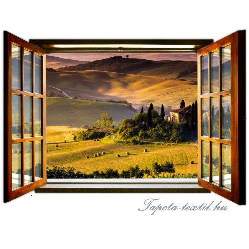 Kilátás az ablakból vlies poszter, fotótapéta 717VEZ4 /201x145 cm/