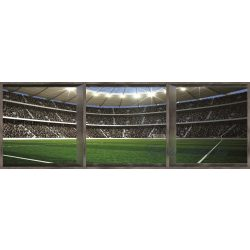 Stadion ablakon át vlies poszter, fotótapéta 742VEEXXXL /832x254 cm/