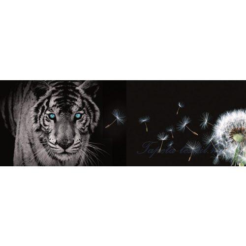 Tigris és pitypang vlies poszter, fotótapéta 792VEEXXL /624x219 cm/