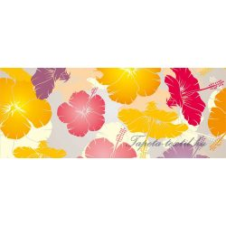 Színes virágok vlies poszter, fotótapéta 8-013VEP /250x104 cm/