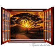 Ablakból a kilátás vlies poszter, fotótapéta 822VEZ4 /201x145 cm/