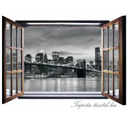 Ablakból a kilátás vlies poszter, fotótapéta 823VEZ4 /201x145 cm/