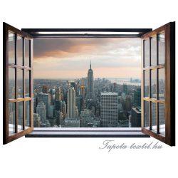 Ablakból a kilátás vlies poszter, fotótapéta 824VEZ4 /201x145 cm/