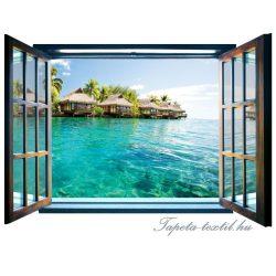 Ablakból a kilátás vlies poszter, fotótapéta 825VEZ4 /201x145 cm/