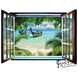 Ablakból a kilátás vlies poszter, fotótapéta 826VEZ4 /201x145 cm/