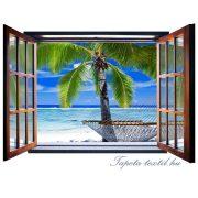 Ablakból a kilátás vlies poszter, fotótapéta 830VEZ4 /201x145 cm/